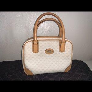 Authentic Gucci supreme canvas micro gg Boston bag